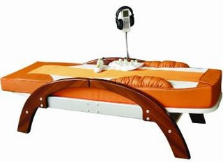 infrared heated jade massage bed with music and aluminum track