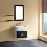 Mini Size Black And White Wall Mounted Bathroom Cabinets
