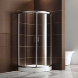 Modern Tempered Glass Shower Enclosure with Acrylic Shower Tray
