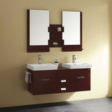 Solid Wood Bathroom Furniture for Two Persons