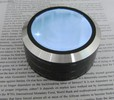 3-LED lighted, touch on/off paperweight magnifier