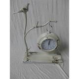 Delicate metal hanging clock with bird