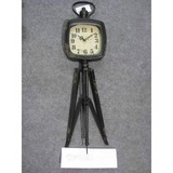 Antique metal clock for home decoration