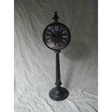 Antique metal station  clock