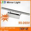 2013 Modern Style Stainless Steel LED Mirror Light 5W/7W/9W 100-240Vac