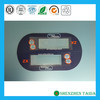 Emboss overlay keypad with transparent window