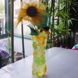 "Unbreakable Plastic Flower Vase,11.25"" x 6.25"""