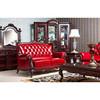 Nobel Classic Leather Sofa, Solid Wood Furniture
