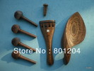 Wenge fitting with chinrest, tailpiece, pegs, endpin for violin