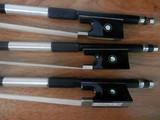 3pcs Nice carbon fiber violin bows 4/4