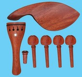 sell SFF009 Siam rosewood violin accessory with chinrest, tailpiece, pegs, endpin