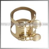 Tenor saxophone mouthpiece clip paint gold
