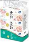 200 sheet  Flowery Series  soft pack facial tissue