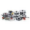 STAINLESS STEEL COOKWARE WITH thermometer knob