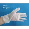 9 inch L size disposable medical examination PVC gloves manufacturer