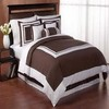 White and brown color bed linens