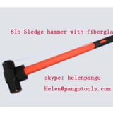 8LB Sledge hammer with fiberglass handle from China