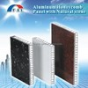 Aluminum honeycomb panel with natural marble