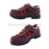 CE EN20345 Steel Toe Suede Leather Safety Shoes
