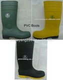 Waterproof PVC Boots/ Steel Toe and Plate/ Anti-skidding