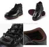 Mid Cut Embossed Leather Safety Shoes/ Safety Equipment