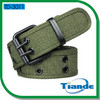 Cotton Webbing Belt with Double PIN Buckle