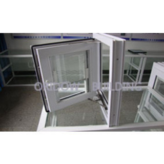 pvc push out window with blind