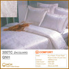 100%Cotton 300TC Jacquard Hotel Linen Bedding Set, Bed Sheet, Duvet Cover, Pillow Case | QNH