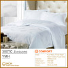 100%Cotton 300TC Jacquard Hotel Linen Bedding Set, Bed Sheet, Duvet Cover, Pillow Case | YMH