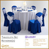 Polyester Table Cloth Set Chair Cover Sash Napkin