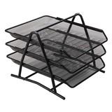 3 Tier Desk Tray, Mesh Desktop Organizer