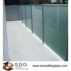 Acid Etched Glass balastrade or fencing