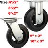 waste bin caster wheels,rubber on cast iron wheels caster