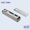 Heavy Duty Floor Spring 80 for 300KG, 360° Pivot Floor Hinge