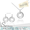 fashion circle crystal jewelry made with swarovski elements