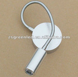 Flexible Gooseneck 1W LED Wall Light