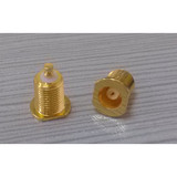 MCX jack connector with screw thread
