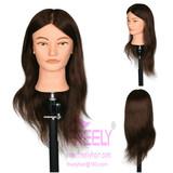 教习头100% Human Hair Training Head Mannequin Head 40cm