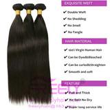Human Hair Bundles Virgin hair Straight weaves