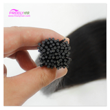 """18"""" Straight Stick Hair I Tip Keratin Remy Hair Extensions Human Hair Natural color 50 Strands/pack 50g for women"""
