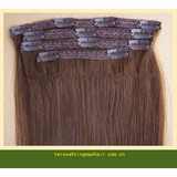 Virgin human hair,clip in hair extension