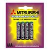 Mitsubishi R03 carbon-zinc batteryn zinc battery