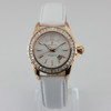 high quality leather strap lady watch