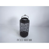 Metal black hollow out palace lantern/storm lantern/garden lantern/metal candle holder
