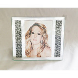 Glass leopard leather photo frame/picture frame/glass gifts/glassware