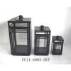 Metal black palace lantern set