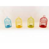 Metal wire bird cage small lantern candle holder tea light holder