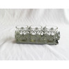 Classical metal base glass cup candle holder/tea light holder