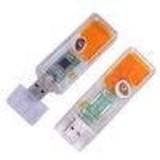 Transparent Plastic USB Flash Drive, Promotional Gift USB Memory Stick Storage Device