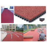 Prefabricated Rubber Athletics Track
